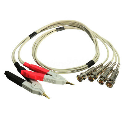 LCR Meter Test Leads Lead / Terminal Kelvin Probe Wires / Clip Cable With 4 BNC