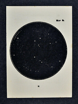 1903 Gall Star Map 9 Pegasus Flying Horse Constellation - Miniature Sky Chart