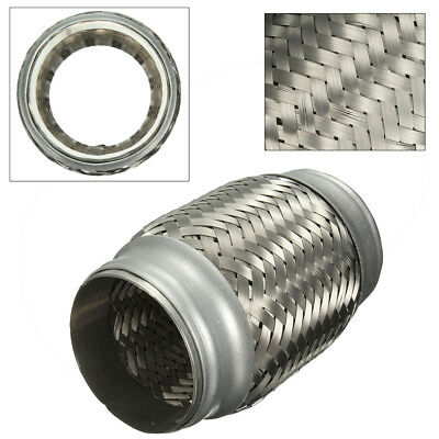 2.5'' x  5'' Stainless Steel Exhaust Pipe Double Braided Flex Connector Piping