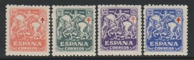 Spain - 1945, Anti T.B Fund set of stamps - M/M - SG 1065/8