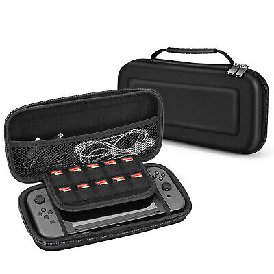 Nintendo Switch Travel Case Portable Carry Hard Shell EVA Game (Black)