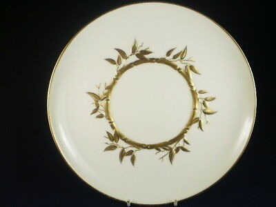 ENGLISH GOLD & WHITE BAMBOO JAPANESE STYLE DINNER PLATE c. 1873+