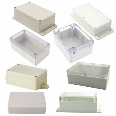 Waterproof Plastic Electronic Home Project Case Instrument Cover Enclosure Box