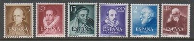 Spain - 1950/53, Portraits stamps - MNH - SG 1135/40