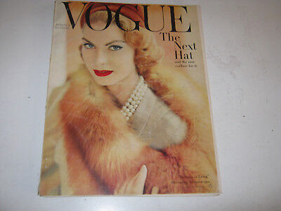 vpk / VOGUE US american , aug. 1957 Mode : in a NOT good condition    (230.)