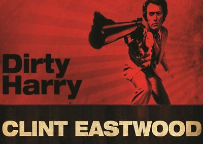 Dirty Harry Clint Eastwood Print Art Poster Picture A3 Size Gz1521
