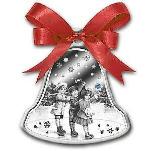 Niue 2012 2$ CHRISTMAS BELL Box with MUSIC MINTAGE 3500 1oz Silver Proof Coin