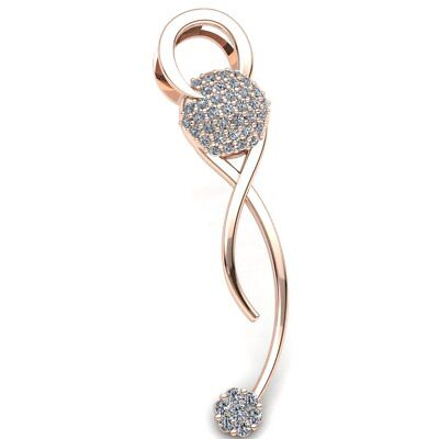 Real 0.5carat Round Cut Diamond Ladies Cluster Infinity Pendant 14K Gold