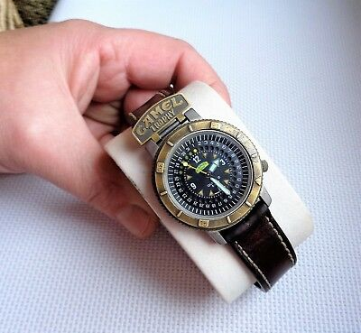 Herren-Armbanduhr CAMEL TROPHY GREEN BELT! Adventure Watches/Swiss Made! RAR/TOP