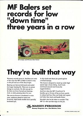 1967 Massey Ferguson Balers Set Records For Low Dow Time Ad