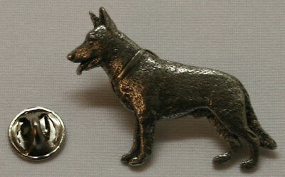 German Shepherd Dog Fine PEWTER PIN Jewelry Art USA Made