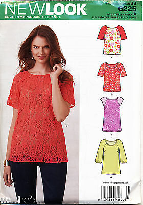 9c1e724eab3 New Look Sewing Pattern 6225 Misses 8-20 Tops W  Scoop Neckline In Two