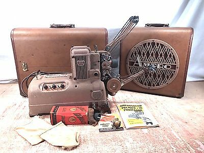 Vintage 1940s AMPRO PREMIER 20 16 mm Projector & Speaker Amplifier