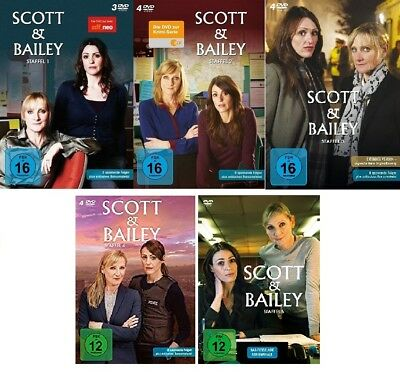 16 DVDs * SCOTT & BAILEY - STAFFEL 1+2+3+4+5 KOMPLETTE SERIE IM SET # NEU OVP &