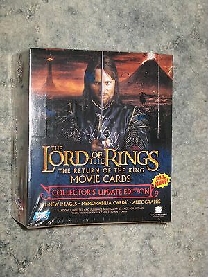 Lord of the Rings Return of the King Movie Cards Update box SW NEW Topps LOTR