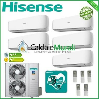 Climatizzatore Hisense Inverter Penta Mini Apple Pie 9+9+9+12+12 Con Amw123U4Se