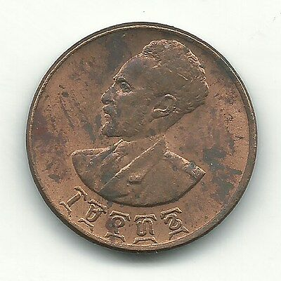 Very Nice High Grade Au 1936 1944 Ethiopia One 1 Cent Coin-May397