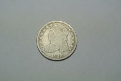 1830 Liberty Capped Bust Dime, AG/Good Condition - C4208