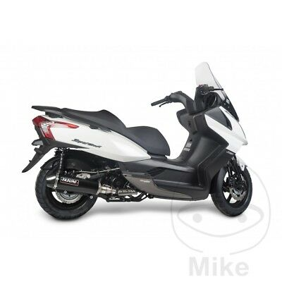 Yasuni Maxiscooter Black Carbon Exhaust Silencer Kymco Downtown 300 i 2011-2012