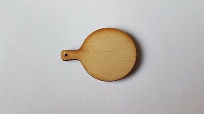 Wooden PIZZA board for 1:12th scale dolls house kitchen chopping bread UK SELLER
