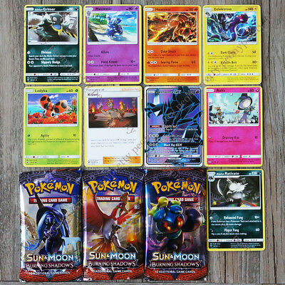 *NEW* POKEMON TCG SUN & MOON BURNING SHADOWS BOOSTER Flash GX Cards d
