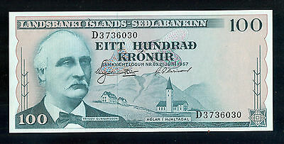 100 Kronur Iceland Bank Note, Cat. #40, CRISP UNCIRCULATED - P371