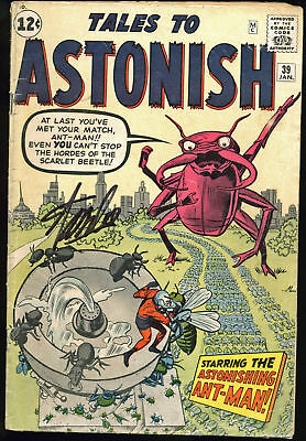 Stan Lee Authentic Signed Tales To Astonish #39 Comic Book PSA/DNA #Z05345