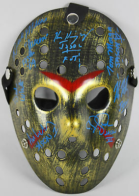 Friday The 13th Jason Mask Signed By 7 Actors Who Played Jason Voorhees JSA 3