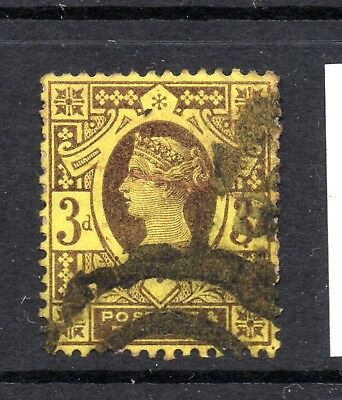 Great Britain (9910) Queen Victoria 1887 3d  Purple & Yellow used Sg202