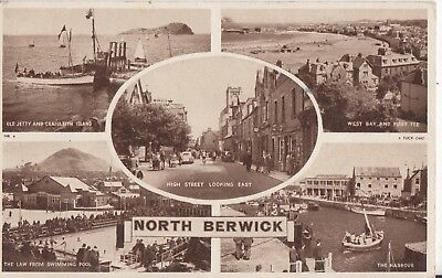 North Berwick Fine Old 5 View Postcard By Tucks