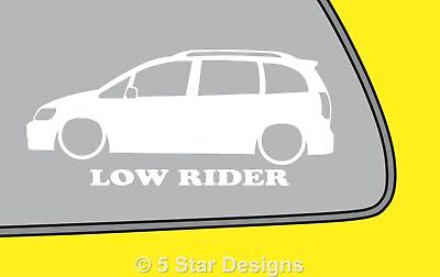 2x LOW RIDE Vauxhall Zafira AVXR OPC GSi outline sticker LR303