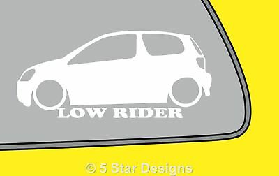 2x LOW YOUR TEXT Renault Clio Mk2 sport RS 172 Pre-Facelift sticker decal 330