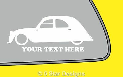 2x LOW YOUR TEXT vauxhall astra coupe mk4 Gsi outline sticker 151