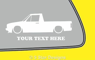 2x LOW YOUR TEXT Vw Volkswagen Caddy Mk1 Silhouetteoutline sticker decal 95