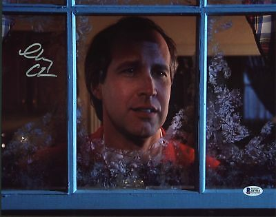 Chevy Chase Christmas Vacation Authentic Signed 11X14 Photo BAS Witnessed 2