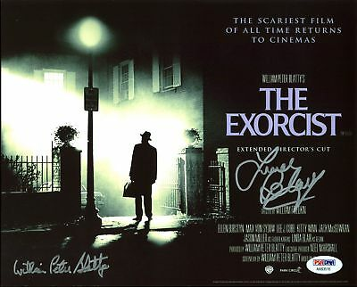 Linda Blair & William Peter Blatty The Exorcist Signed 8X10 Photo PSA #AA83516