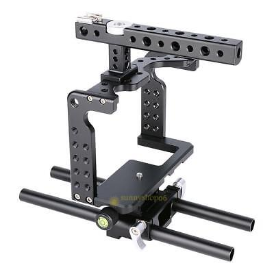 Aluminum Camera Holder Mount Stabilizer Cage Handle Grip for Panasonic GH4/GH5