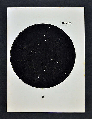 1903 Gall Star Map 11 Pisces Fishes Cetus Whale Constellation - Mira - Miniature