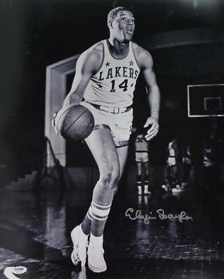 Lakers Elgin Baylor Signed Authentic 16X20 B&W Photo Autographed PSA/DNA ITP