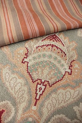 Antique Vintage French fabric old material PROJECT BUNDLE 2 pillow pack