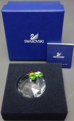 Swarovski Crystal Christmas Ornament Round Ball with Holly & Berries