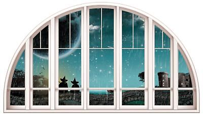 Huge 3D Window view Witches /& Cats Wall Sticker Film Mural Art Decal 179