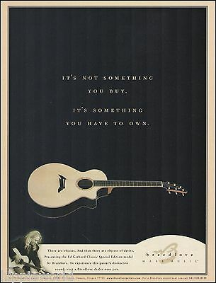The Ed Gerhard Classic Special Edition Breedlove acoustic guitar 8 x 11 ad print