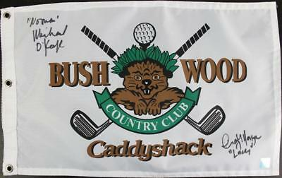 Michael O'Keefe & Cindy Morgan Authentic Signed Caddyshack Flag With Ssg COAs