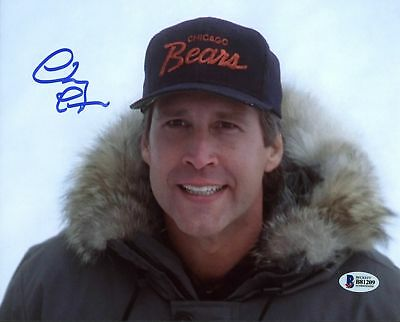 Chevy Chase Christmas Vacation Authentic Signed 8X10 Photo BAS Witnessed 1