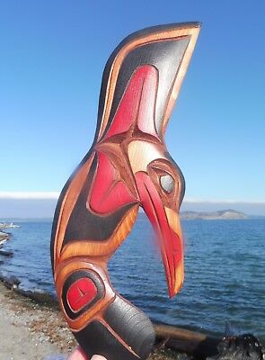 First Nations native Art from the Northwest Coast, wooden carving, Hummingbird
