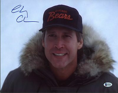 Chevy Chase Christmas Vacation Authentic Signed 11X14 Photo BAS Witnessed 1