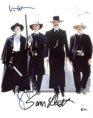 Tombstone Kurt Russell, Val Kilmer & Sam Elliott Signed 11X14 Photo BAS #A80843