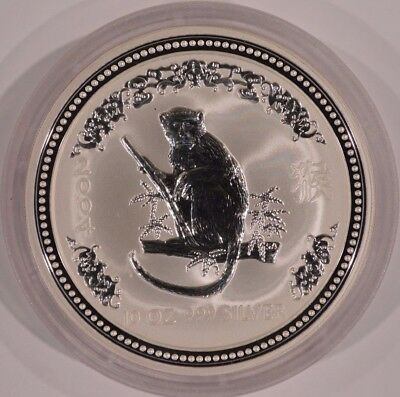 2004 Australia $10 Year of the Monkey Lunar 10 oz Fine Silver Coin Series I #1
