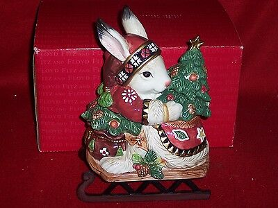 Fitz and Floyd Lodge Lidded Rabbit Candy Dish